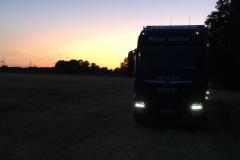 LKW Sonnenuntergang