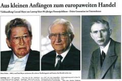 Zeitungsartikel 90-jähriges Jubiläum Seite 1